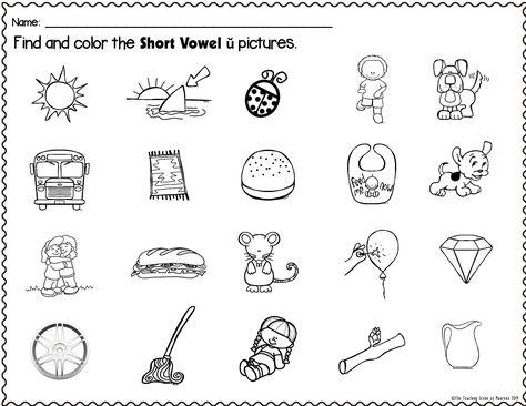 Short Vowel ŭ Packet : Letters, Pictures, Words