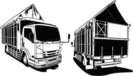 Silhouette Of A Canter Truck Car Canter Truck Truck Vector Truck Vector Design