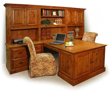 Double Peninsula Desk Home Office