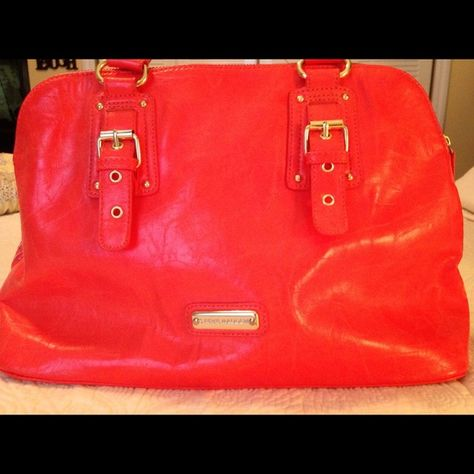 Steve Madden Bright Orange Handbag Purse And
