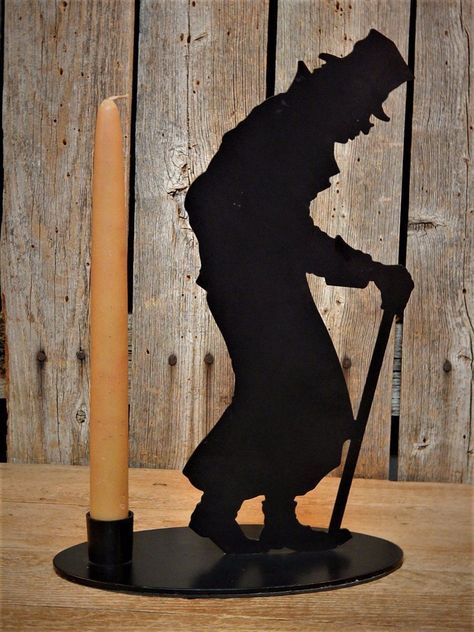 Dept 56 Christmas Carol Black Tin Silhouette Ebenezer Scrooge Candle Holder Christmas Carol Christmas Past Ebenezer Scrooge