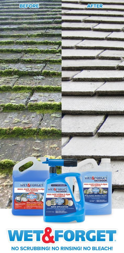 Easily Clean Virtually Any Exterior Surface Without Any Scrubbing After Applying Wet Forget The Wind And The Cleaning Hacks Roof Cleaning Outdoor Cleaning