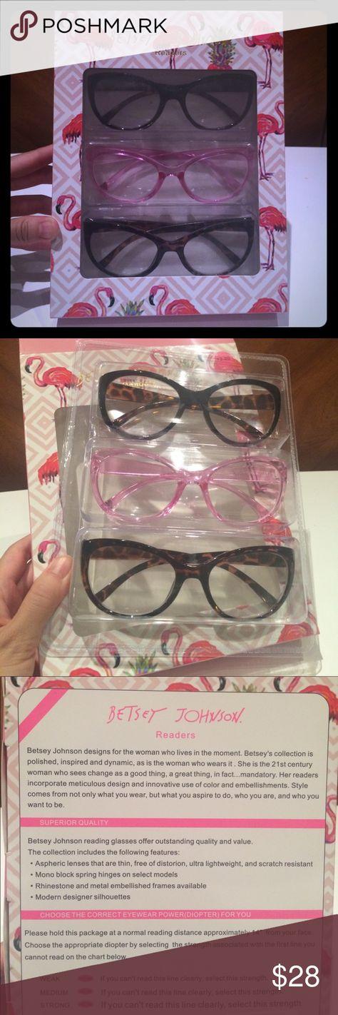 Betsey Johnson Readers 2 0 3 Pack Reading Glasses Nwt Betsey Johnson Betsey Glasses Accessories