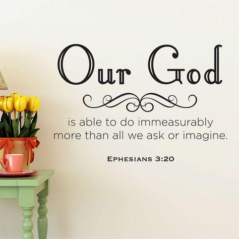 Ephesians 3:20 Christian wall decal | Divine Walls