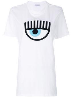 White T-shirt with flirting logo  Chiara Ferragni Collection  T-shirts