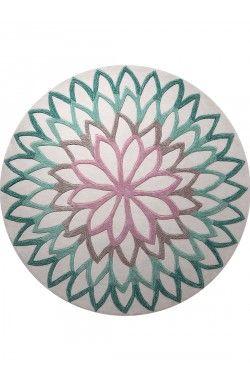 Lotus Flower Tapis Turquoise Tapis Design Tapis Esprit