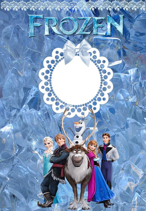 """Convites Digitais Simples: Kit Digital Aniversário """"Frozen Disney-Uma aventura congelante"""" com rótulos para guloseimas, convites ....para Imprimir"""