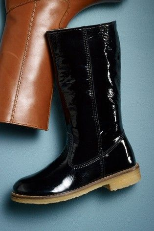 Black Tall Leather Boots (Older