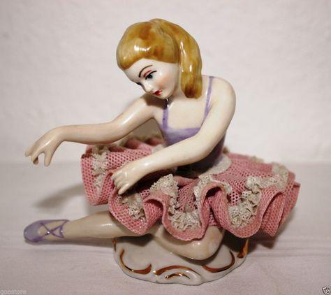 Wilhelm Rittirsch 542 alte Bisquit Porzellanfigur Ballerina