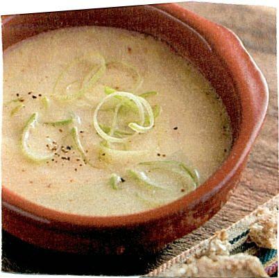 Prei - mosterdsoep : - 2 eetlepels olie  - 500 gram prei in ringen  - 2 aardappels in blokjes  - 1 liter kippenbouillon  - 2 eetlepels zaanse mosterd  - 125 ml créme fraïche