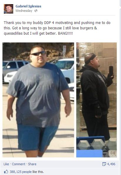 How did chumlee lose weight mens health