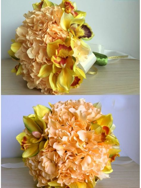 Bouquet Sposa Online.Bouquet Sposa Online Color Pesca Con Orchidee Finte Bouquet