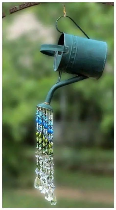 Watering Can Sun Catcher Sun Catcher Suncatcher Crystal Sun Catcher Beaded Sun Catcher Crystal Beaded Suncatcher Garden Decor Yard Art