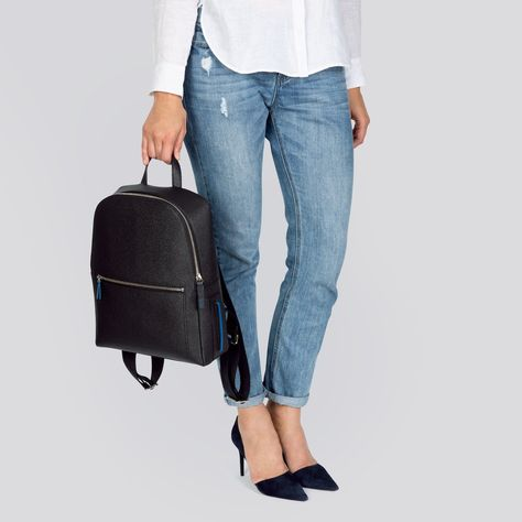 Farrell Backpack - Black & Blue