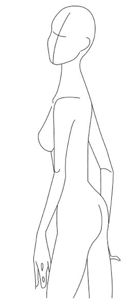 full figure croquis Body Figures \ Accessories Templates - The - fashion designer templates