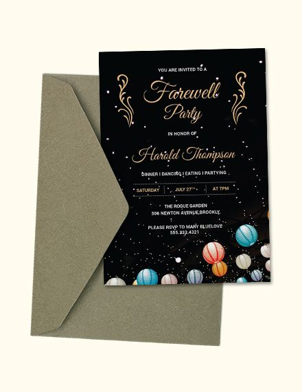 Free Farewell Party Invitation