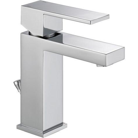 Delta Modern Single Hole Single Handle Bathroom Faucet In Chrome Grey In 2020 Single Handle Bathroom Faucet Bathroom Faucets Bathroom Trends