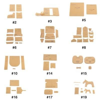 Clear Acrylic Wallet Pattern Stencil Template Set Leather Acrylic DIY Tool,16pcs