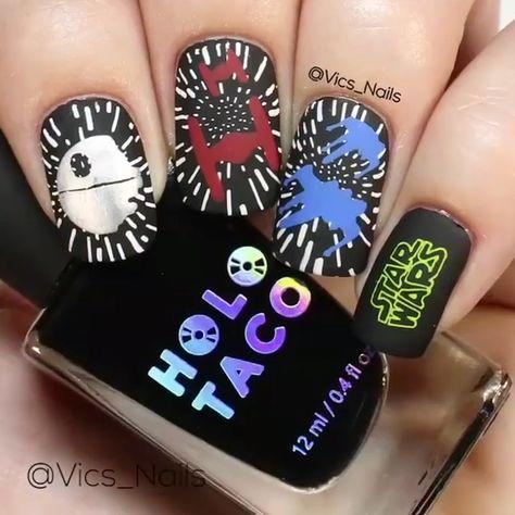 Star wars nail design by @vics_nails