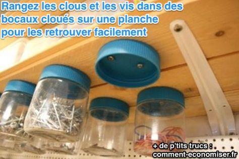 Une Boite De Rangement Astucieuse Pour Les Clous Et Les Vis Organisation De Garage Boite De Rangement Et Rangement Vis