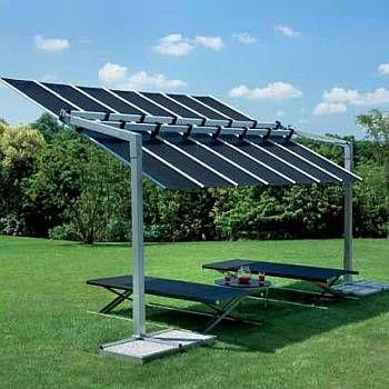 Flexy 10ft Deep Commercial Freestanding Retractable Awning Tilting Canopy Flexy10 Best Solar Panels Solar Panels Solar