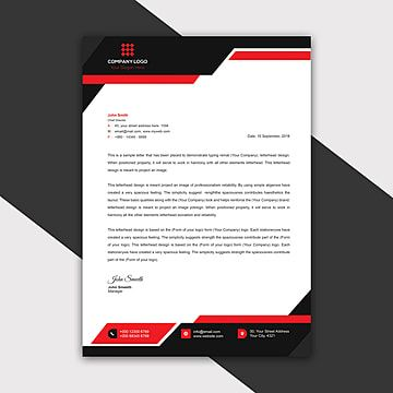 قالب ترويسة الشركة الحديثة 2019 Company Letterhead Company Letterhead Template Letterhead Template