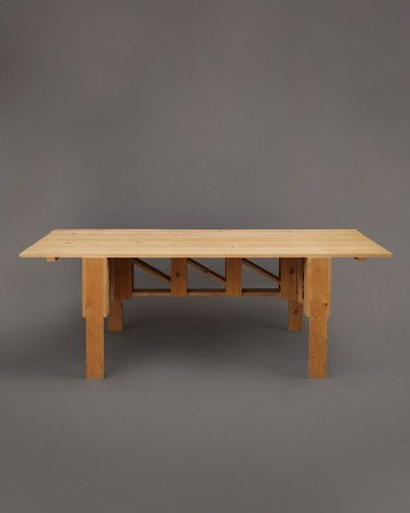 Enzo Mari Dining Table Farmhouse Style Dining Table In Unfinished