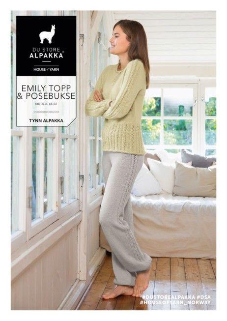 DSA46 02 Emily topp & posebukse | Du Store Alpakka