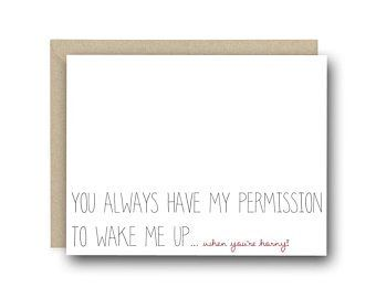 Naughty Valentine's Day Card - You Always Have Permission - Anniversary Card, Valentines Card, Love Card, Funny Love Card, Sexy Card