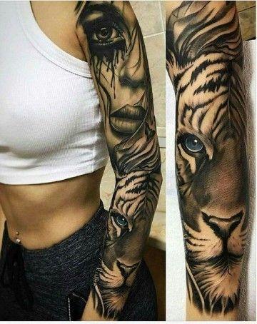 Obras Originales De Tatuajes De Animales En El Brazo Tatuajes De
