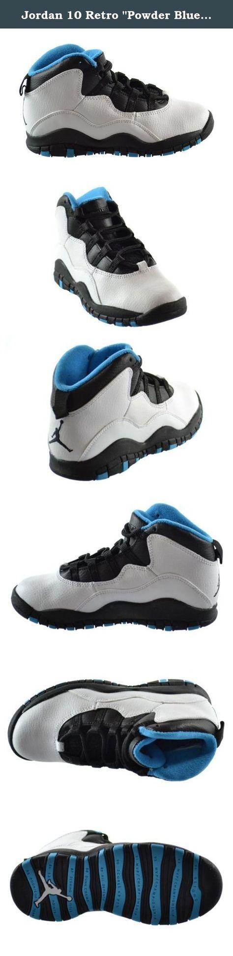 - 310807 106 White Dark Powder Black Trainers Kids Nike Jordan 10 Retro PS