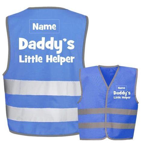 Daddys Little Helper Kids,Childs Hi-Vis Safety Vest Jacket High Visibility Viz,Costume,Fancy Dress - FREE personalisation#childs #daddys #dress #free #helper #high #hivis #jacket #kidschilds #little #personalisation #safety #vest #visibility #vizcostumefancy
