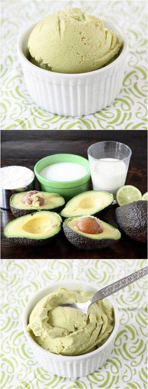 Easy Avocado Ice Cream