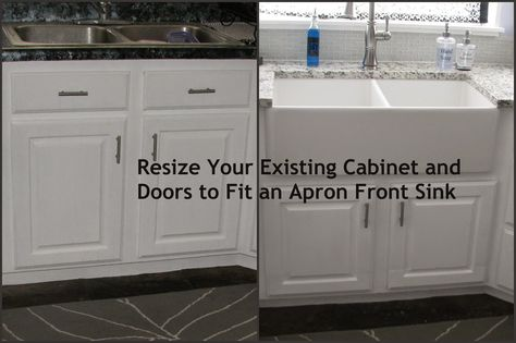 My So-Called DIY Blog: Resize Your Existing Cabinet and Doors to Fit an Apron Front Sink