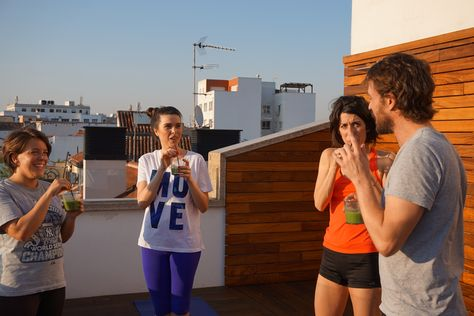 Rooftop Yoga Session At 7islashotel Pic By Ayluciamadrid