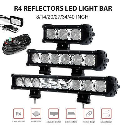 Details About 8 14 20 27 34 40 Inch Cree Led Light Bar Spot Flood Combo Work Lamp Atv Offroad Cree Led Light Bar Led Light Bars Led Lights