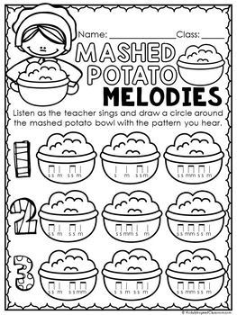 Music Worksheets for Thanksgiving {Ready Set Print