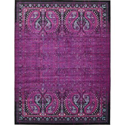 Mistana Neuilly Lilac Black Area Rug Area Rugs Floral Area Rugs