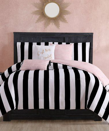 Cabana Stripe Six Piece Reversible Comforter Set Zulily