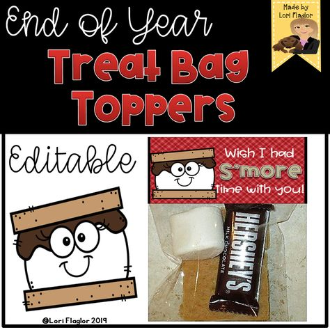 End of Year Treat Topper