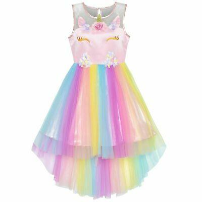 Sponsored Ebay Vestido De Unicornio Para Niña De 4 5 6 7 8 Años Vestidos Cumpleañ Vestidos De Cumpleaños Para Niñas Vestidos Para Niñas Unicornio Para Niños