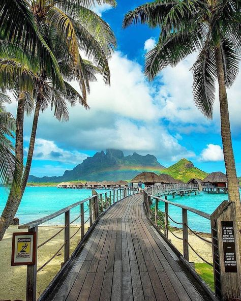 """TRAVEL  BEACH  RESORTS on Instagram: """"Bora Bora ,French Polynesia😍⠀ Double tap if you want to be here❤️⠀ ➕ Get inspired by: @travelersspots Join us for more! ➕ Photo by…"""""""