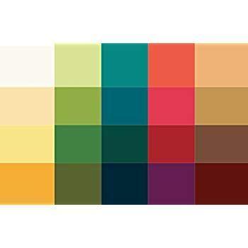 Kleiner Farbpass Herbsttyp 20 Farben Farbkarte Herbst Herbstfarben