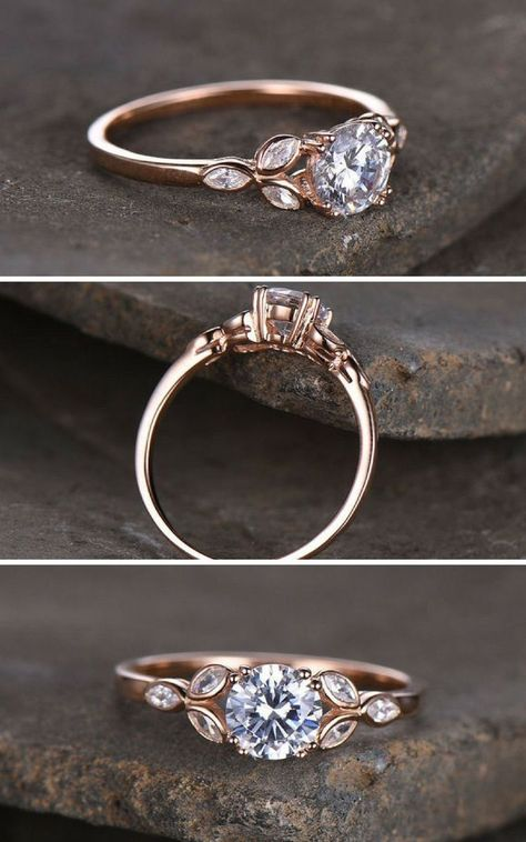 Check this charles and colvard moissanite engagement ring set from Camellia Jewelry. Scrupulously handmade in fine detail, it is a unique wedding ring set that will show her how much you care without breaking the bank. This engagement ring features wh Morganite Engagement, Engagement Ring Settings, Vintage Engagement Rings, Halo Engagement, Minimalistic Engagement Ring, Most Expensive Engagement Ring, Unconventional Engagement Rings, Celtic Engagement Rings, Designer Engagement Rings