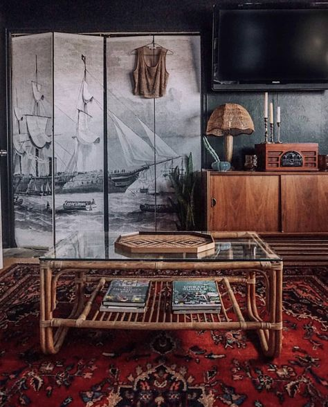 Living Room Decor Tips, Living Room Sets, Man Cave Living Room, Vintage Modern Living Room, Bedroom Decor, Bedroom Stuff, Closet Bedroom, Wall Decor, Vintage Nautical