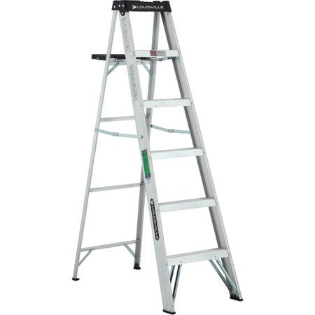 Louisville Ladder 6 Aluminum Step Ladder 250 Lb Capacity W 2112 06s Walmart Com Step Ladders Aluminium Ladder Ladder