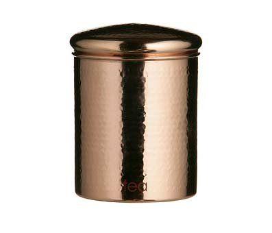 Copper Tea Coffee Sugar Storage Jar Canister Set Coffee