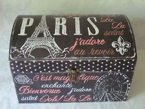 Nice Punch Studio Paris Eiffel Tower Polka Dots Storage Trunk Chest Keepsake Box  Xl | Storage Trunk And Studio