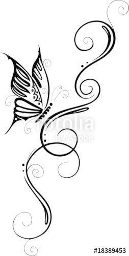 laden sie den lizenzfreien vektor floral filigranes tattoo ranke mit schmette in 2020 filigree anklet tattoos lizenzfreie vektoren kuh