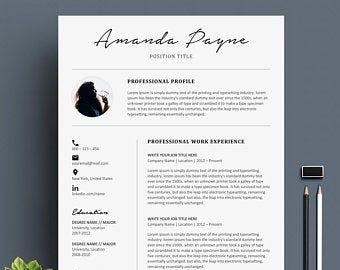 Professional Cv Curriculum Vitae 2 Page Resume Simple Resume
